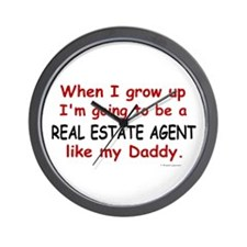 Real Estate Agent (Like My Daddy) Wall Clock