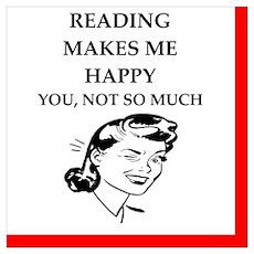 reading joke Poster