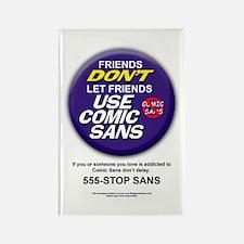 Comic Sans Anonymous Rectangle Magnet