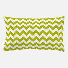 Chartreuse Green Herringbone Pillow Case