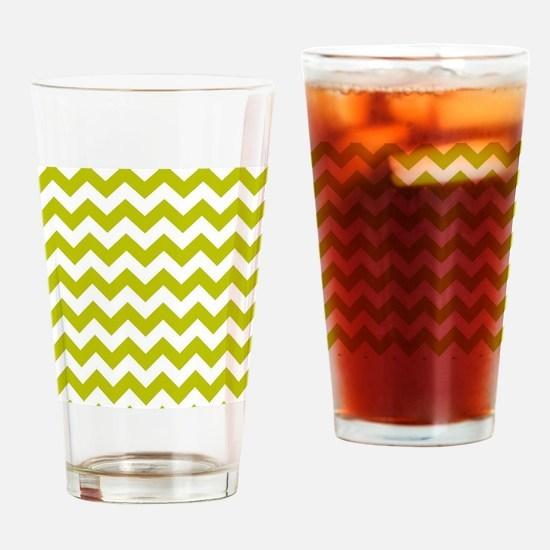 Chartreuse Green Herringbone Drinking Glass
