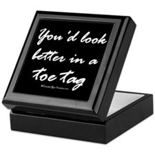 Toe Tag/black Keepsake Box