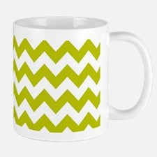 Chartreuse Green Herringbone Mugs