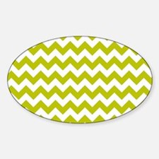 Chartreuse Green Herringbone Decal
