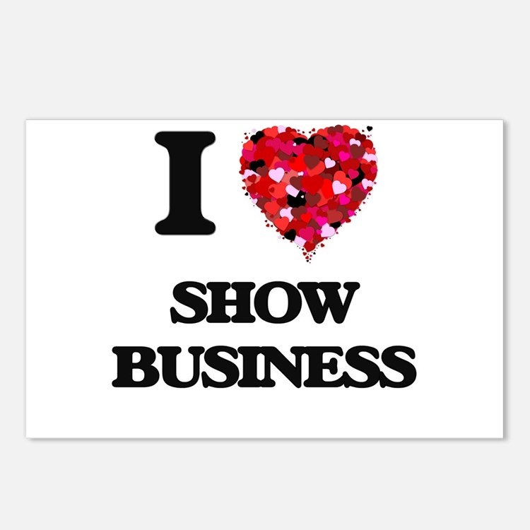 I Love Show Business Postcards (Package of 8)
