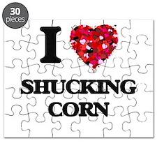 I Love Shucking Corn Puzzle