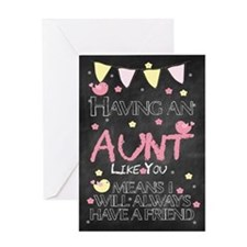 Aunt Chalkboard Birthday Card Greeting Cards