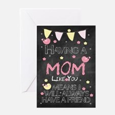 Mom Blackboard Birthday Card Greeting Cards