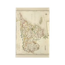 County Clare Map - Rectangle Magnet Magnets