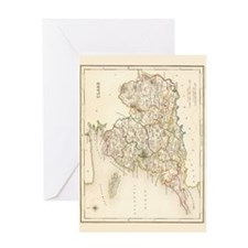 County Clare Map - Greeting Card