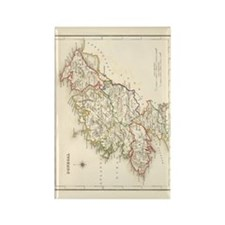 County Donegal Map - Rectangle Magnet Magnets