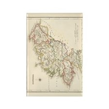 County Donegal Map - Rectangle Magnet (10 Magnets