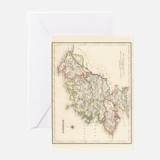 County Donegal Map - Greeting Card
