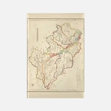 County Fermanagh Map - Rectangle Magnet Magnets