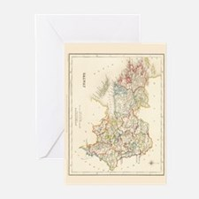 County Galway Map - Greeting Cards (Pk of 10)