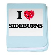 I Love Sideburns baby blanket