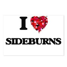 I Love Sideburns Postcards (Package of 8)