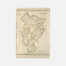 County Kildare Map - Rectangle Magnet Magnets