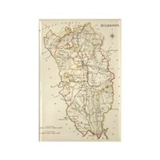 County Kilkenny Map - Rectangle Magnet Magnets
