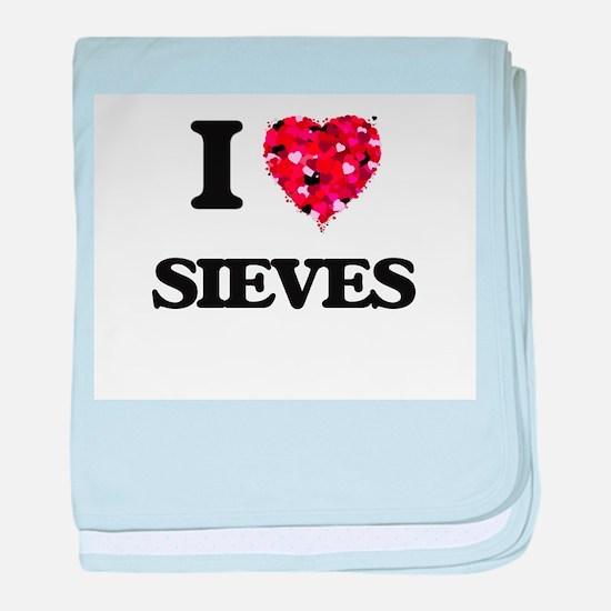 I Love Sieves baby blanket
