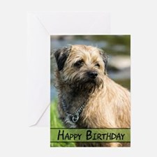 Border Terrier Dog Birthday Card Greeting Cards