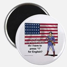 """Press 1 for English 2.25"""" Magnet (100 pack)"""