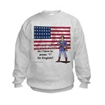 Press 1 for English Kids Sweatshirt