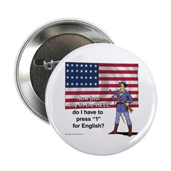 """Press 1 for English 2.25"""" Button (10 pack)"""