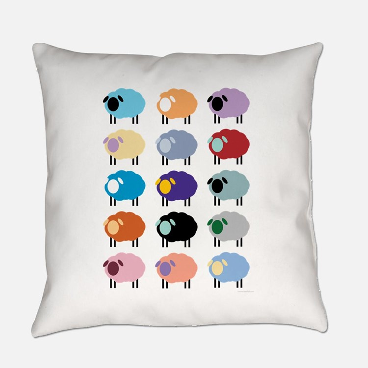 Sheeple Everyday Pillow