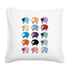 Sheeple Square Canvas Pillow