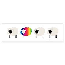 rainbow sheep Bumper Bumper Bumper Sticker