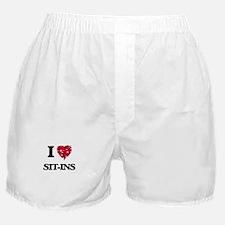 I Love Sit-Ins Boxer Shorts