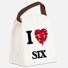 I Love Six Canvas Lunch Bag