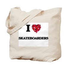 I Love Skateboarders Tote Bag
