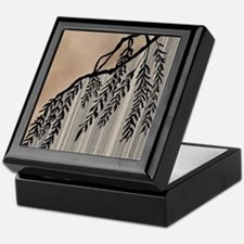 Pinstripes, Willow, and Clouds Keepsake Box