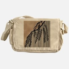 Pinstripes, Willow, and Clouds Messenger Bag