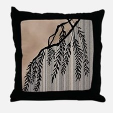Pinstripes, Willow, and Clouds Throw Pillow