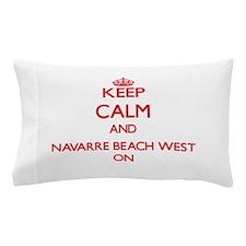 Keep calm and Navarre Beach West Flori Pillow Case