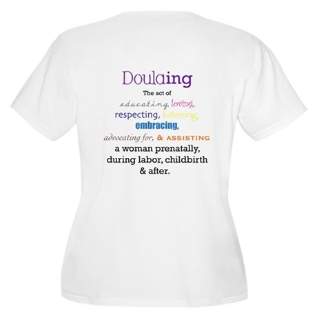 Doulaing Colorful Women's Plus Size V-Neck T-Shirt
