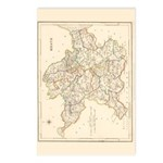 County Meath Map - Postcards (package Of 8)