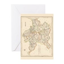 County Meath Map - Greeting Cards (Pk of 10)