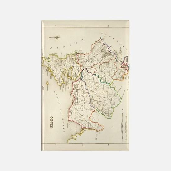 County Sligo Map - Rectangle Magnet