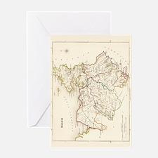 County Sligo Map - Greeting Card
