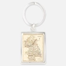 County Tipperary Map - Portrait Keychain