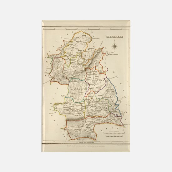 County Tipperary Map - Rectangle Magnet Magnets