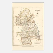 County Tipperary Map - Postcards (package Of 8)