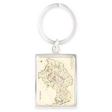 County West Meath Map - Portrait Keychain