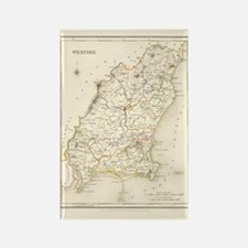 County Wexford Map - Rectangle Magnet