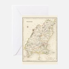 County Wexford Map - Greeting Card