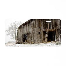 Winter Barn Aluminum License Plate